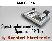 Spectrophotometer Spectro LFP Tex by BARBIERI Electronic SNC