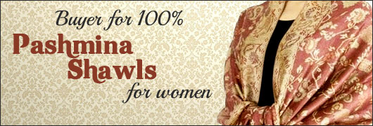 Buyer for 100 percent Pashmina Shawls for women