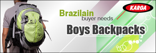 Brazilain buyer needs  Boys Backpacks