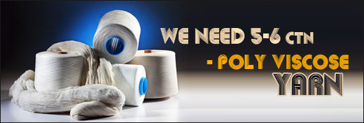 We need 5-6 Ctn- poly viscose yarn