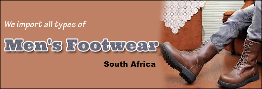 We import all types of Mens Footwear - South Africa