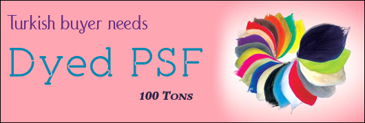 Turkish buyer needs  Dyed PSF-  100 Tons