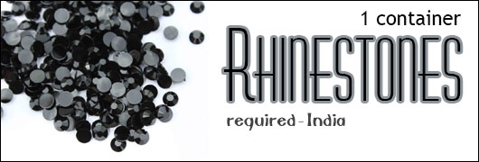 1 container Rhinestones required - India
