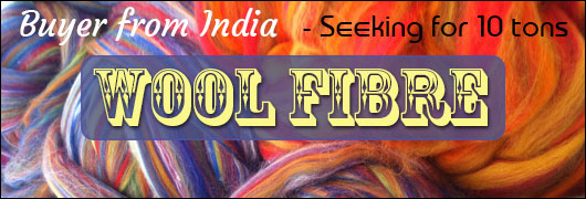 Buyer from India - Seeking for 10 tons wool fibre