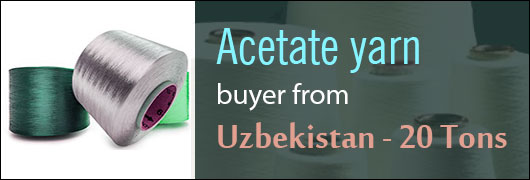 Acetate yarn buyer from Uzbekistan - 20 Tons