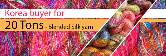 Korea buyer for 20 Tons - Blended Silk yarn