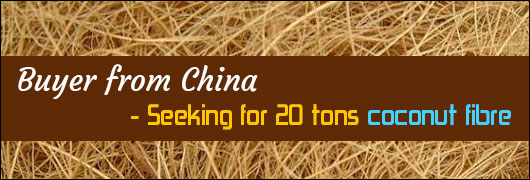 Buyer from China - Seeking for 20 tons coconut fibre