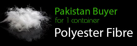 Pakistan Buyer for 1 container polyester Fibre