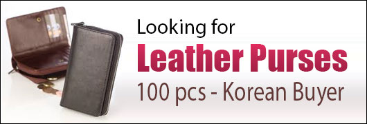 Looking for Leather Purses - 100 pcs - Korean Buyer