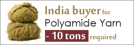India buyer for Polyamide Yarn - 10 tons required