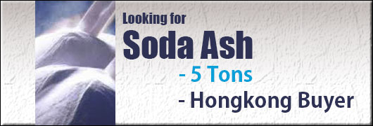 Looking for Soda Ash 5 Tons Hongkong Buyer