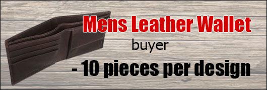 Mens Leather Wallet buyer - 10 pieces per design
