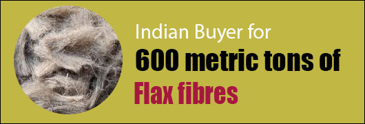 Indian Buyer for 600 metric tons of Flax fibres