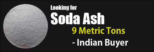Looking for Soda Ash - 9 Metric Tons - Indian Buyer