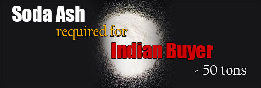 Soda Ash required for Indian Buyer - 50 tons