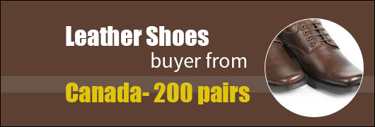 Leather Shoes buyer from Canada- 200 pairs