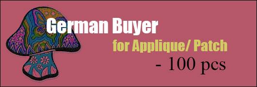 German Buyer for Applique/ Patch - 100 pcs