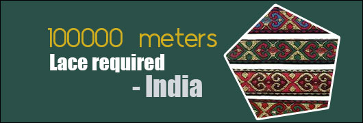 100000 meters Lace required - India
