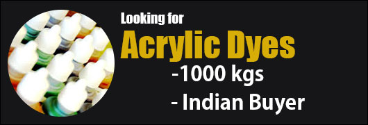 Looking for Acrylic Dyes -1000 kgs - Indian Buyer