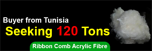 Buyer from Tunisia - Seeking 120 tons of Ribbon Comb Acrylic Fibre