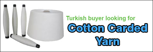 Turkish buyer looking for Cotton Carded yarn