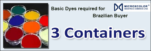 Basic Dyes required for Brazilian Buyer - 3 Containers