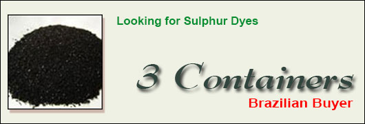 Looking for Sulphur Dyes - 3 Container - Brazilian Buyer