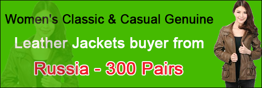 Womens Classic & Casual Genuine Leather Jackets buyer from Russia - 300 Pairs