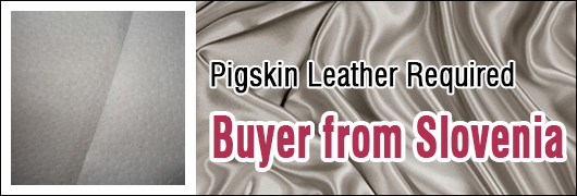 Required 3000 Square Meters of Pigskin Leather - Slovenian Buyer