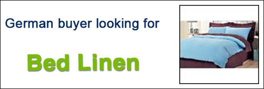 German buyer looking for Bed Linen