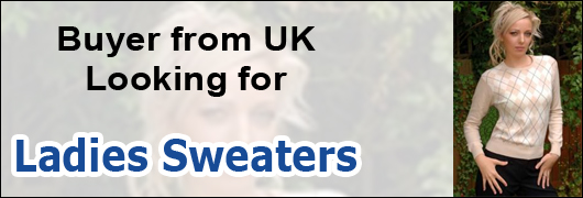 Buyer from UK - Looking for Ladies Sweaters