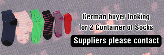 German buyer looking for 2 Container of Socks - Suppliers please contact