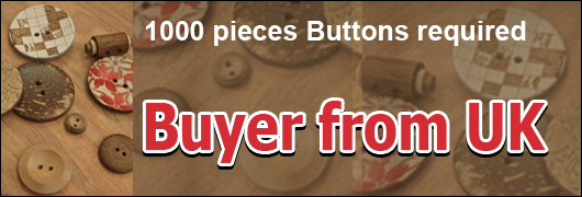 1000 pieces Buttons required Buyer from UK
