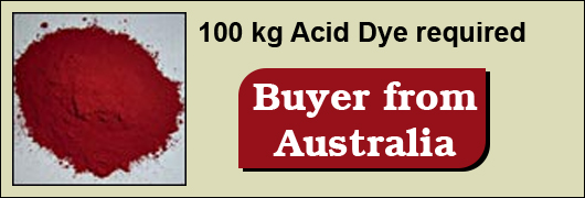 100 kg Acid Dye required - Buyer from Australia