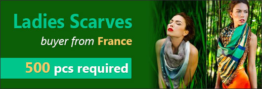 Ladies Scarves buyer from France - 500 pcs required