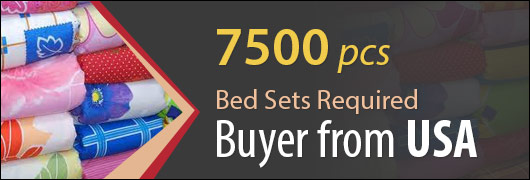 7500 pcs Bed Sets Required - Buyer from USA