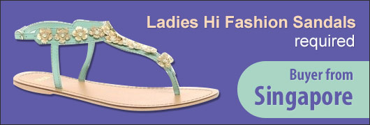 Ladies Hi Fashion Sandals required - Buyer from Singapore