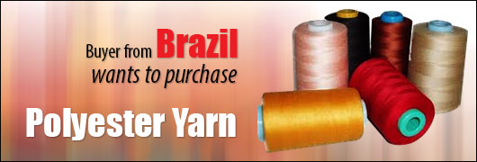 Brazil buyer looking for Polyester Yarn