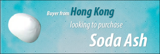 Buyer from Hong Kong looking to purchase Soda Ash