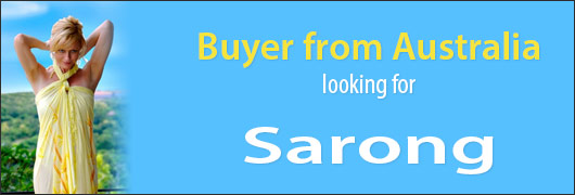 Buyer from Australia looking for Sarong