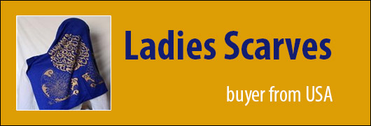 Ladies Scarves buyer from USA - 100 pcs required