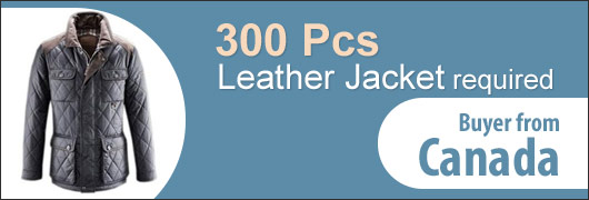 300 Pcs Leather Jacket buyer from Canada
