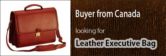 Canada buyer looking for Leather Executive Bags
