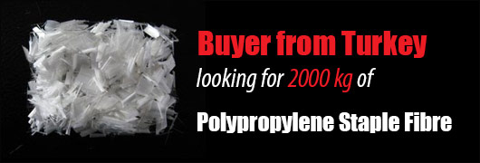Buyer from Turkey looking for 2000 kg of Polypropylene Staple Fibre
