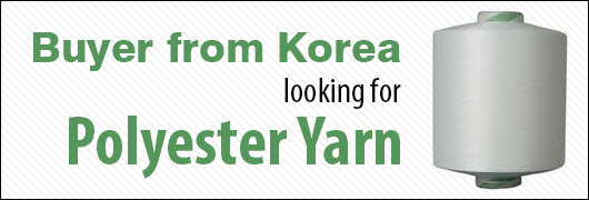 Buyer from Korea looking for Polyester