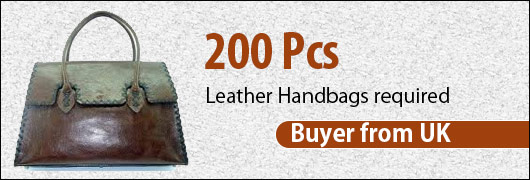 200 Pcs Leather Handbags required- Buyer from UK