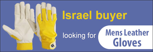 Israel buyer looking for Mens Leather Gloves