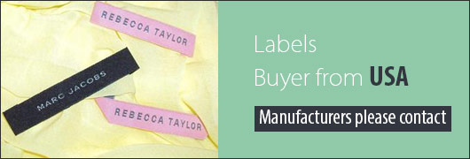 Labels Buyer from USA - Manufacturers please contact