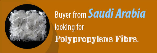 Buyer from Saudi Arabia looking for 100 Polypropylene Fibre