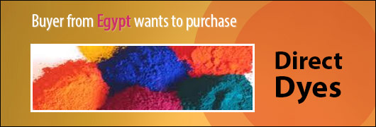 Buyer from Egypt wants to purchase Direct Dyes